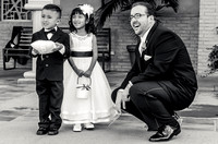 Groom with Flower Girl and Ring Bearer